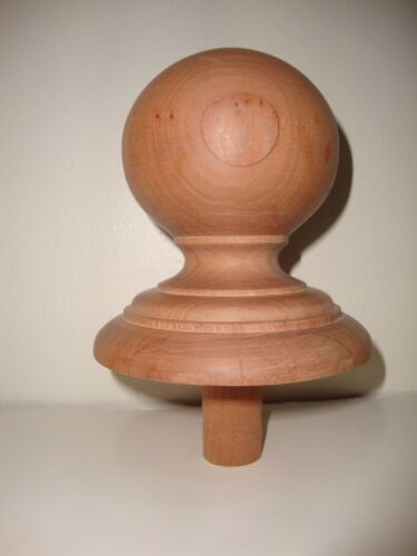 WOOD FINIAL UNFINISHED FOR NEWEL POST FINIAL OR CAP #3