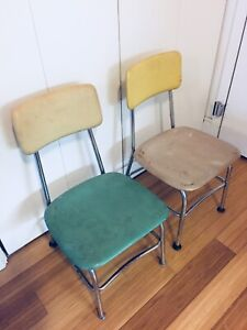 SMALL KIDS SIZE MINI SCHOOL HOUSE CHAIRS VINTAGE