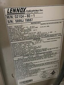 Lenox 80,000 btu gas furnace Kitchener / Waterloo Kitchener Area image 5