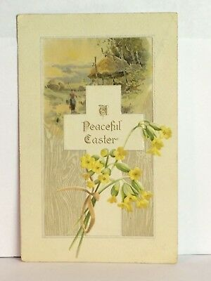 PostCard  A Peaceful Easter Floral Scenic Posted Stamp 4-17-1908 Germany Vintage