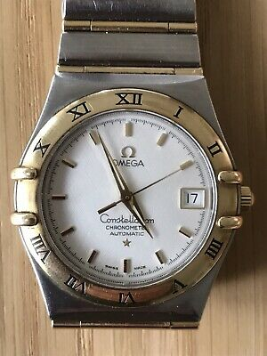 Omega Constellation Chronometer Automatic Gents 18 Carat Gold & Steel Watch.