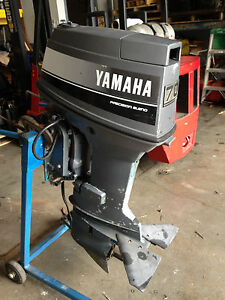 1988 yamaha 70 hp outboard boat motor runs power trim tilt for Yamaha 90 outboard weight