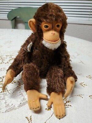 Vintage Steiff Jocko Monkey Chimpanzee Made in U.S. Zone Germany Glass Eyes
