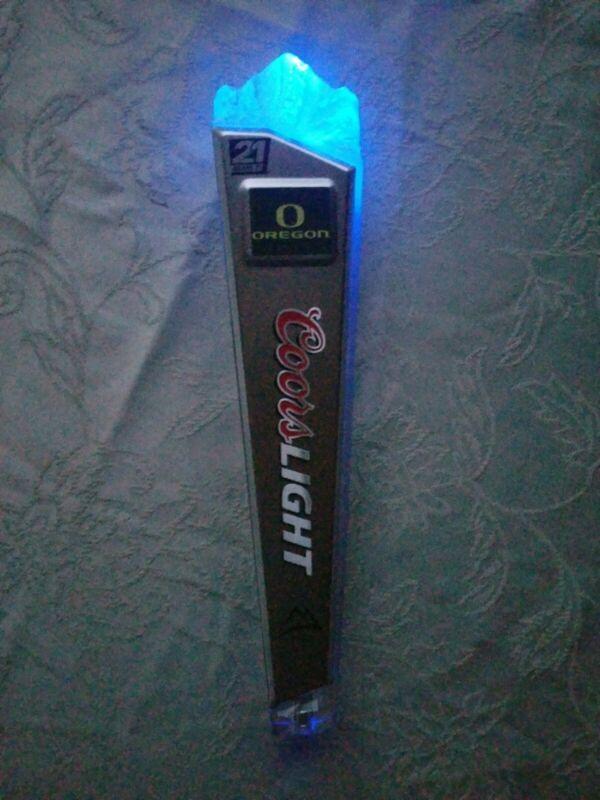 Coors Light Oregon Ducks Top Color Changing Motion LED Light Up Tap Handle