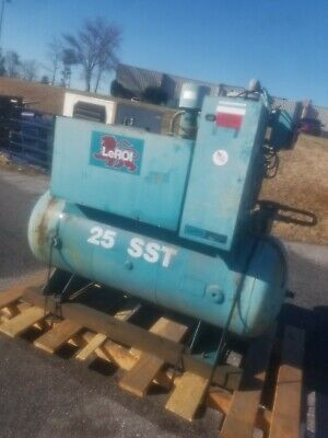 Used 25 Hp Leroi 120 Gallon Tank Model 25 Sst 208230460 Volt 3 Phase