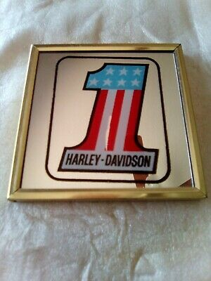 Vintage Harley Davidson Advertising Mirror!
