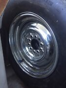 55 56 57 Chrome wheels suit Tri 5 Chevy Chevrolet.  Lisarow Gosford Area Preview