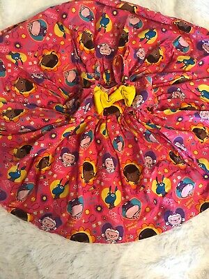 "Doc Mcstuffins 2T Qtees Customs Dress Twirl 17"" Long Pink Euc"