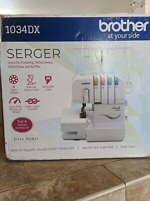 Brother 1034DX Elite Overlock Serger Sewing Machine w/accessories BRAND NEW