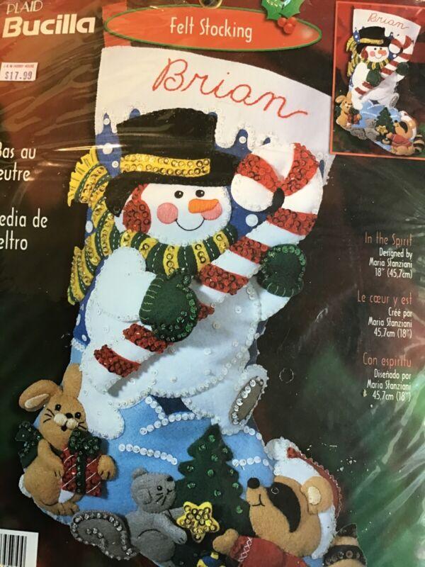 Bucilla~Felt Stocking Kit Happy Holiday 84594