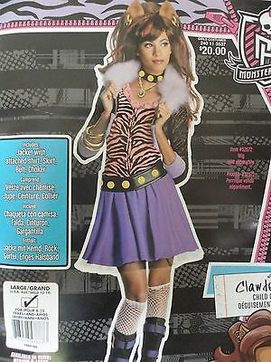 Monster High Clawdeen Wolf Halloween/Dress-up Costume LG 12-14 (Monster High Dress Up Clawdeen Wolf)