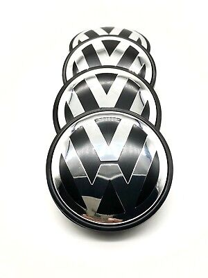 4pcs Wheel Center Hub Caps Logo Emblem For VW VOLKSWAGEN Golf Jetta Beetle (Emblem Wheel)