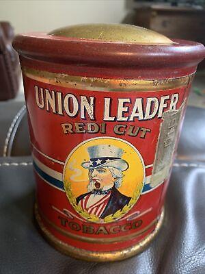 "Early ""Union Leader"" REDI CUT Tobacco tin"