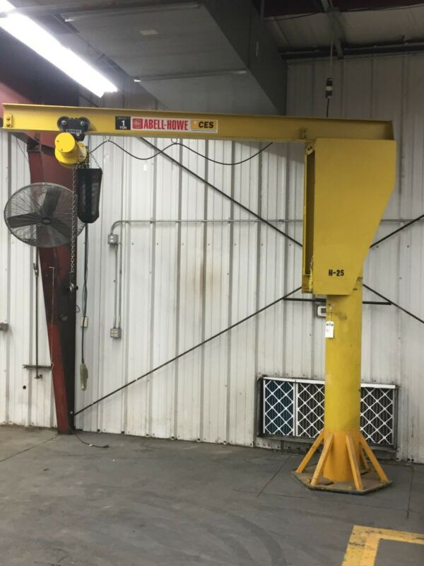 Abell-Howe 1 ton (2000lb) Jib Crane 10 ft span- good working condition