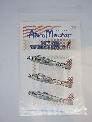 1/72 86th FBG THUNDERIETS Pt II Decals AERO MASTER 72196