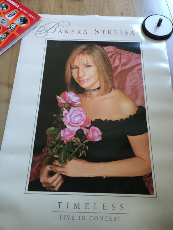 Barbra Streisand - Timeless -  Promo Poster - Rare!