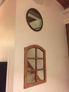 VARIOUS MEDIUM -SMALL SIZE MIRRORS ANTIQUE VINTAGE BATHROOM ETC