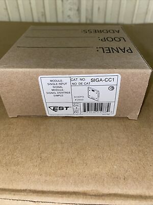 Est Edwards Siga-cc1 Fire Alarm Module. Single Input Module.