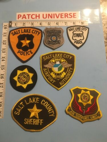 LOT OF 7  DIFFERENT SALT LAKE CITY  SHOULDER PATCHES  G063