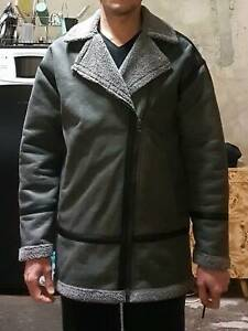 THICK GREY JACKET (FAUX LEATHER) - $15
