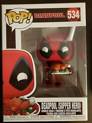 "FUNKO POP VINYL MARVEL HOLIDAY ""DEADPOOL (SUPPER HERO)"" FIGURE NEW"