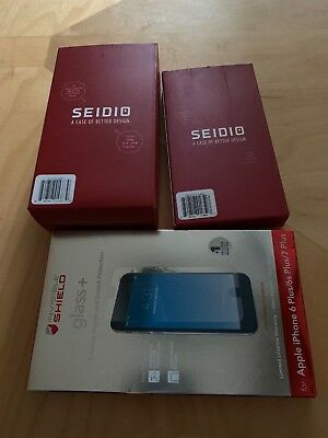 SEIDIO SURFACE COMBO CASE & ZAGG GLASS LOT IPHONE 7+/ 8+