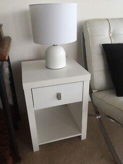 Set Of White Bedside Tables