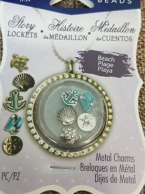 Blue Moon Beads Story Lockets Metal Charms - DOG -  Set of 5 Pieces - NEW! - Blue Moon Beads Charms