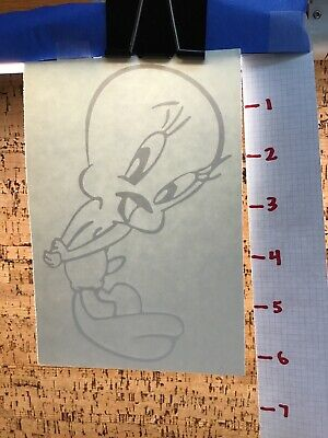 Tweety Bird Cute Shy  -  White     -  Vinyl Transfer Decal - Y7-1.48 Tweety Bird Vinyl