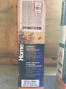 Brand new trimmable faux wood horizontal blinds