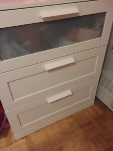 2 ikea 3 drawer dressers for $ 70 each