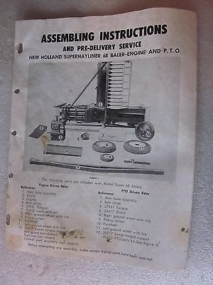 1958 New Holland Assembling Instructions Manual Superhayliner 68