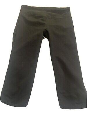 Fabletics Black Work-Out Capri With Waistband Zipper Pocket Women's Size XXS