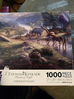 "Thomas Kinkade Painter Of Light ""Emerald Valley "" 1000 Piece Puzzle"