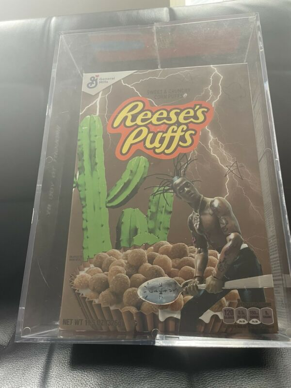 Travis Scott Reeses Puffs Cereal *Special Edition* WITH Acrylic Box Brand New