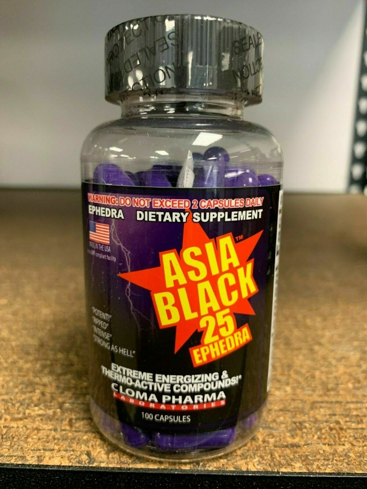 Cloma Pharma Asia Black Extreme Thermogenic Fat Burner Fast Free Shipping