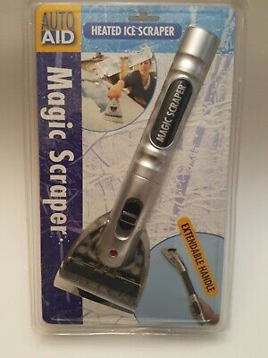Magic Scraper, Heated Ice Scraper with Extendable Handle up to 18