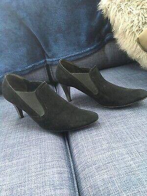 Kennel & Schmenger Black Suede Shoe Boot Uk 6