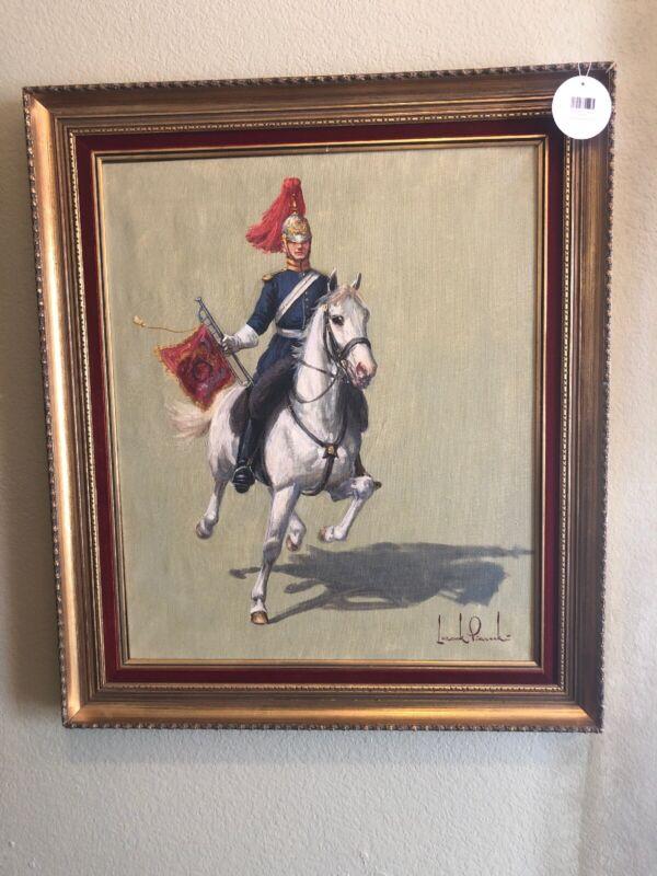 "Leszek Piasecki 29"" By 25"" Framed Signed Oil On Canvas Great Subject Vivid Color"
