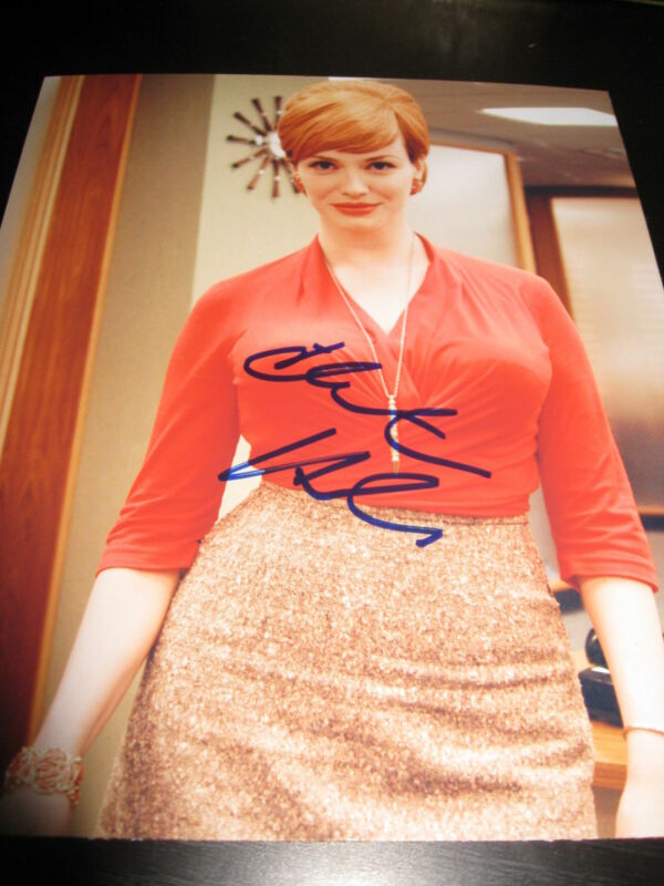 CHRISTINA HENDRICKS SIGNED AUTOGRAPH 8x10 PHOTO MAD MEN IN PERSON COA AUTO J