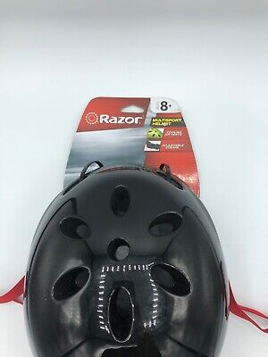 NEW - Razor V17 Youth Skateboard/Scooter/Bike Sport Helmet, Glossy Black Med