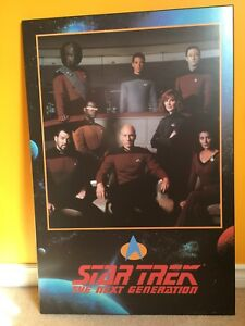 Mounted Star Trek The Next Generation crew posted