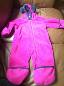 Purple Columbia fleece outdoor onesie