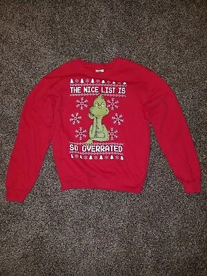 Grinch Red Christmas Sweater size XS  (Grinch Christmas Sweater)