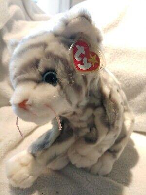 Ty Original Beanie Buddy silver cat