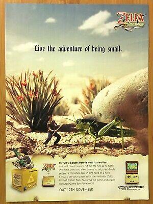 Legend of Zelda: The Minish Cap GBA 2005 Vintage Print Ad/Poster Official UK Art