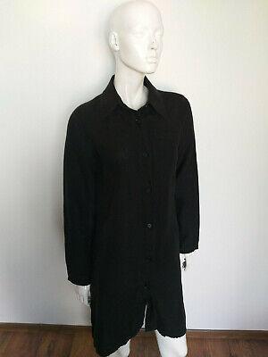 IVAN GRUNDAHL black linen top long sleeve tunic size 36 (S)