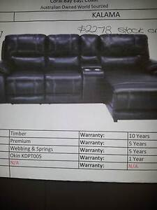 Lounge - 2 seats and 1 chaise all electric recliners Elizabeth Playford Area Preview