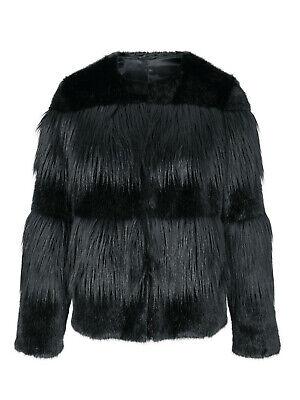 Heine Damen Jacke mit Webpelz dunkelbraun