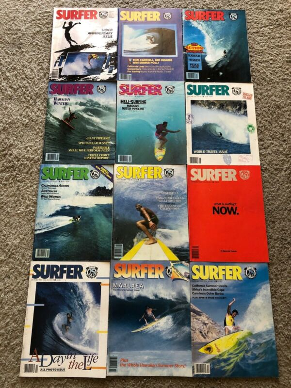SURFER MAGAZINE 1985 VOL. 26 LOT OF 12 ISSUES  All in Good Condition